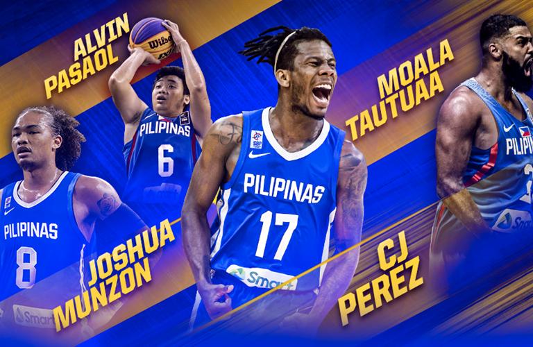 Gilas Pilipinas: Munzon, Pasaol, Perez, Tautuaa in FIBA 3×3 OQT line-up