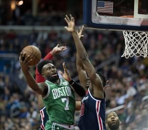 Jaylen Brown of the Boston Celtics [photo credit: Keith Allison | Wikimedia Commons]