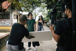 """The cover photo is from the set of Pista ng Pelikulang Pilipino 2019 entry """"LSS."""" [PIA photo]"""