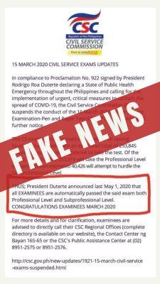 fake news, CSC, [PIA photo]