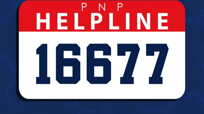 PNP launches 'HELPLINE 16677