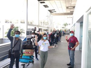 Overseas Filipino workers (OFWs) earlier stranded in Clark due to travel restrictions have arrived home in Northern Mindanao on Saturday, May 9. Photo from BCDA.