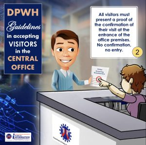 DPWH issues health and safety policy for visitors (DPWH)
