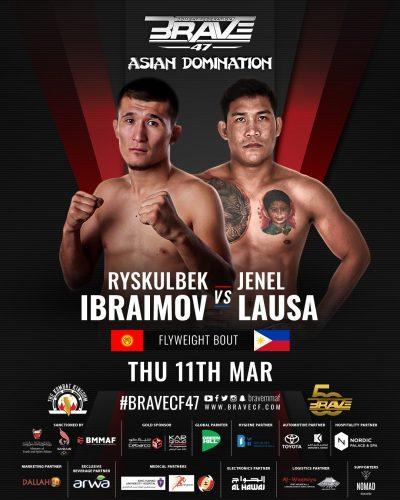 Ryskulbek Ibraimov vs. Jenel Lausa at Brave CD 47