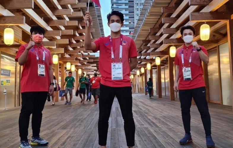 Kurt Barbosa at the Tokyo 2020 Olympics [photo credit: carlospadillav via Philippine Taekwondo Association Facebook page]