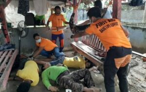 FOILED JAILBREAK. Photo shows three of four inmates who were killed while trying to escape from the Bureau of Jail Management and Penology in Lianga, Surigao del Sur on Sunday morning (Sept. 26, 2021). The fourth jailbreaker was declared dead at the Lianga District Hospital. (Photo courtesy of SDSPPO)