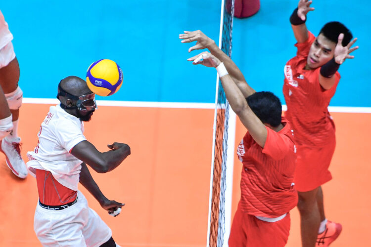 PH Rebisco loses its third game, this time against Qatar at the Asian Men's Club Volleyball Championship in Thailand. [Photo: Asian Volleyball Confederation | Eddy Phongphakthana]