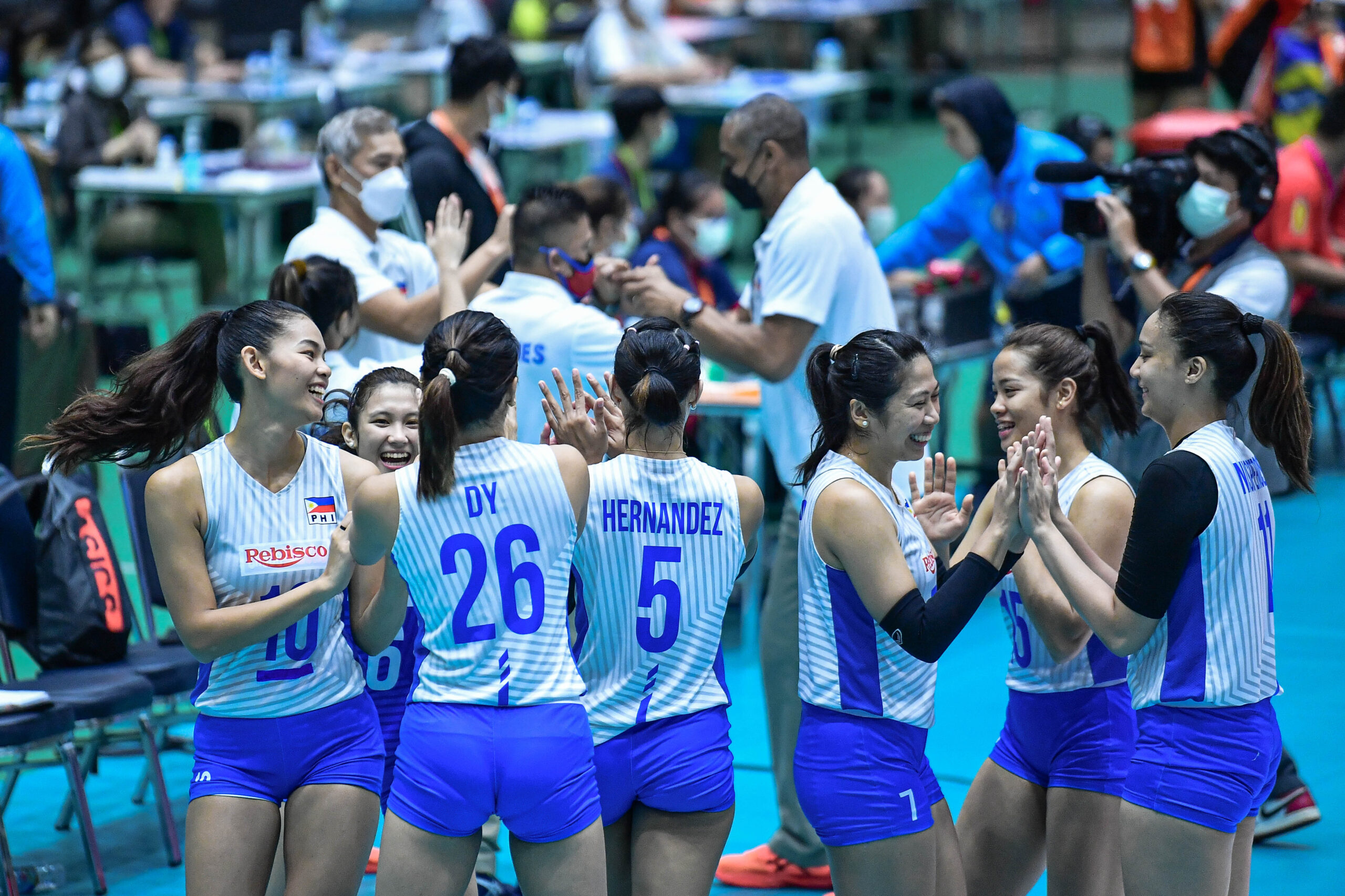 PH Rebisco will try to salvage a 5th place finish on Wednesday against Team Choco Mucho. [Photo credit: Asian Volleyball Confederation / Eddy Phongphakthana]