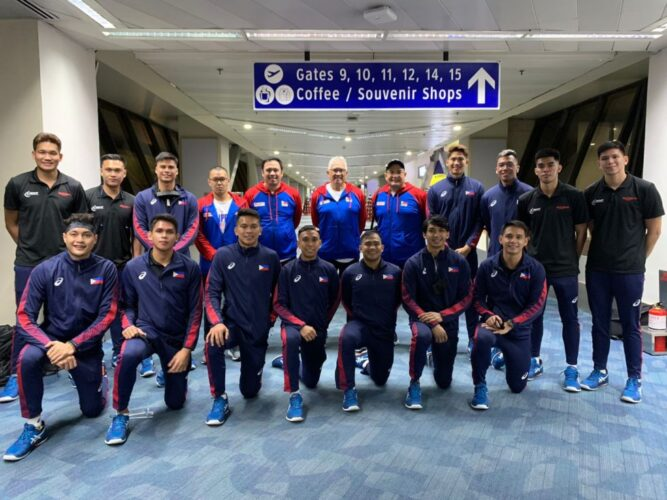 Philippine Team Rebisco for the 2021 Asian Men's Volleyball Championship in Thailand. [PNVF photo]