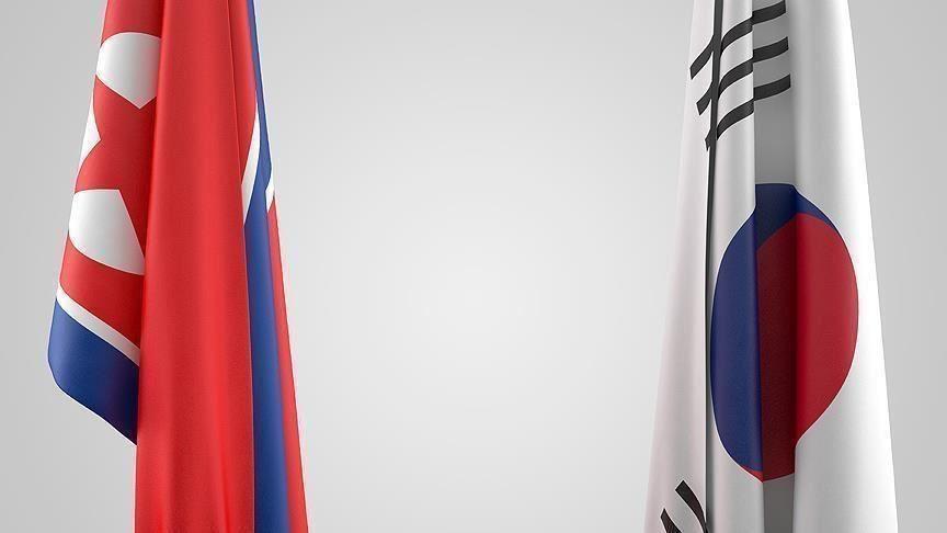 North and South Korea flags (Anadolu photo)